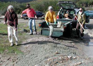 Dam construction.