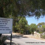 A Class Reserve sign.