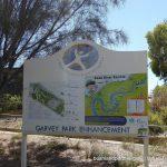 Garvey Park signage.